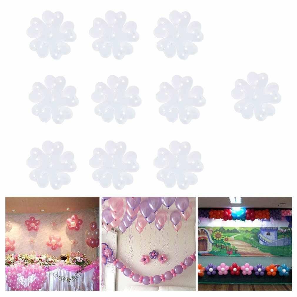 2018 NEW10pcs balon klipleri erik çiçeği şekli kemer tutucu balon sütun standı doğum günü partisi malzemeleri için düğün süslemeleri