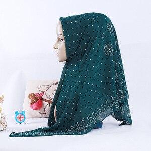 Image 4 - New National Style pearl chiffon Muslim Square Scarf 105*105cm Womens Fashion Beaded Headscarf Wholesale