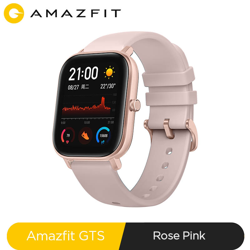 Global Version NEW Amazfit GTS Smart Watch 5ATM Waterproof Swimming Smartwatch 14 Days Battery Music Control for Android Phone