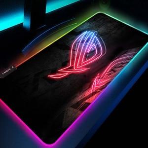 Image 1 - Asus alfombrilla de ratón Rog Deco, alfombrilla Rgb Led para videojuegos, decoración para jugadores, alfombrilla para ratón Gloway, Pc, Republic of Gamers con Cable alfombra