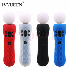 IVYUEEN 1 pcs Anti slip Silicone Rubber Cover Protective Skin Case for Sony PlayStation PS VR Move Motion Controller Black Blue