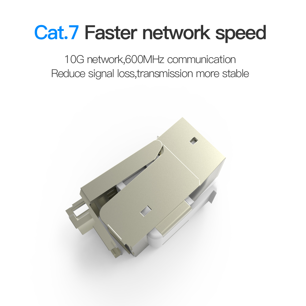 Easy to Install Ideal for Extending the Ethernet Cables Female to Female Stable 10PCS RJ45 Ethernet Connectors Cat 7 Cat6 Cat5 Cat5e RJ45 8P8C Network Keystone Jack In-Line Coupler High Speed