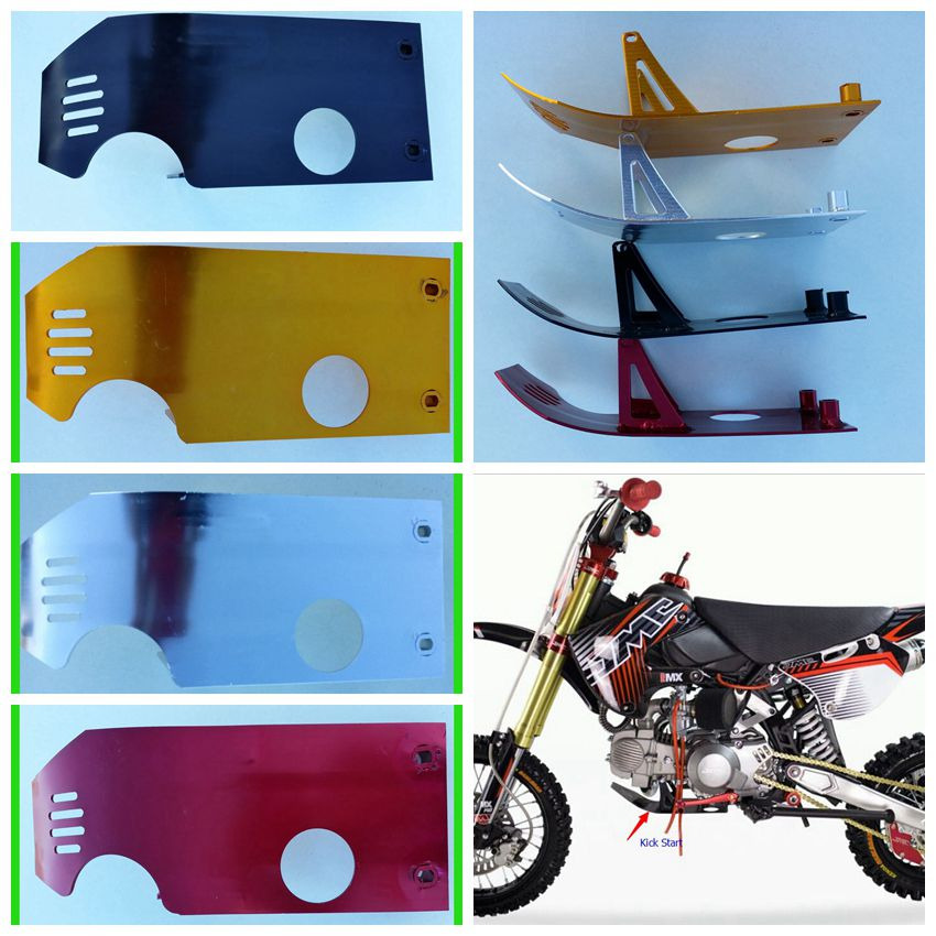 TDPRO Motorcycle Kick Start Engine Protect Skid Guard Plate For Pit Dirt Bike