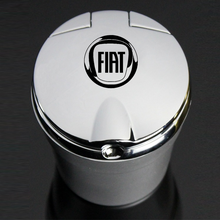With Led Lights car Logo Creative Personality ashtray for Fiat Aegea 500c Panda Uno Palio Tipo Doblo car Emblem Auto Accessories
