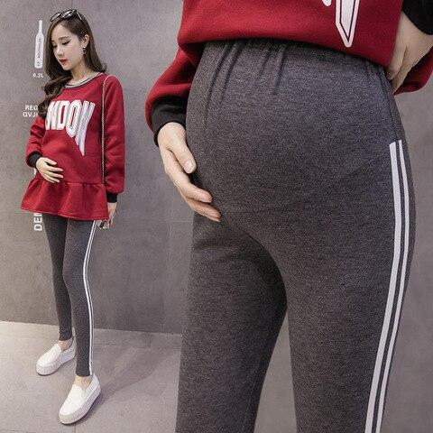 para mulheres gravidas roupas leggings gravidez magro stretch calcas gravidas