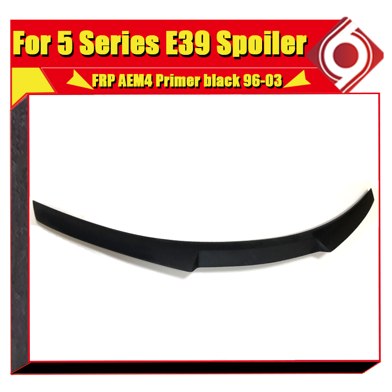 E39 M4 style Trunk Spoiler Wing FRP Unpainted For BMW 5 series 520i 528i 530i 535i 550i High Kick Big wing rear spoiler 1996 03 in Spoilers Wings from Automobiles Motorcycles