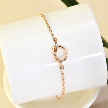 Metal Tie Knot Anklets Female Barefoot Crochet Sandals Foot Jewelry Bead Ankle Bracelets For Women Leg Chain gold anklet 3