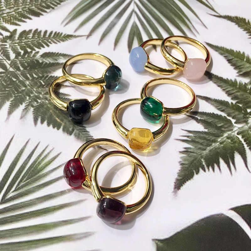 คลาสสิกหยดน้ำลูกอมสไตล์แหวน 8 สีจริงคริสตัลแหวนแฟชั่นเครื่องประดับ (DJ1153)