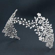 Handmade 2020 New Cubic Zirconia Wedding Soft Headband,Crystal Hairband Tiara Hair Jewelry Accessories for Bride HG105