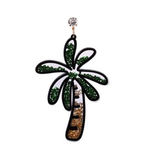 Acrylic Quicksand Earrings Exaggerated Coconut Tree Dog Flower Heart Cherry Smile