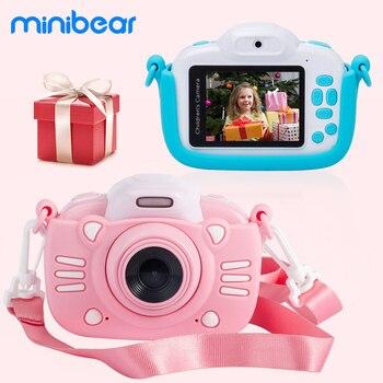 Minibear aparat dziecięcy mini aparat cyfrowy dla dziecka 1080P kamera wideo HD kamera dla dzieci maluch aparat zabawka prezent na urodziny