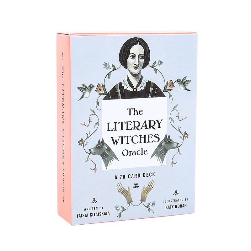 Cartas de oráculo de las brujas literarias, Tarot de versión inglesa para juegos de cartas divertidos para la familia en casa, regalo para juegos de mesa