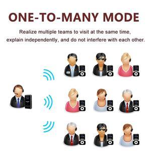 Image 3 - Retekess bezprzewodowy System przewodnika 1 nadajnik T130 + 10 odbiornik + mikrofon do systemu tłumaczeń kościelnych Factory Tour Training Court