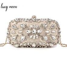 Wedding Clutch Womens Clutch Bag Party Purse and Handbag Pearl Clutch Luxury Handbags Women Bags Designer Apricot Wallet bolsa