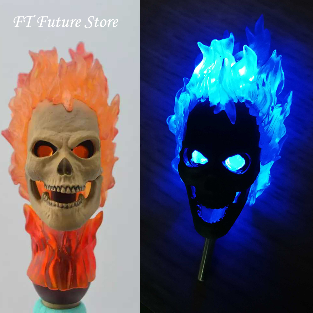 1/6 Scale Male Head Sculpt Ghost Rider Head Carved Model Red/Blue Version Headplay For 12'' Action Figure Body