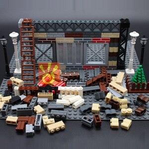 MOC Stadt Bauen DIY Block Ziegel Wand Ziegel Erleuchten Pädagogische Bausteine Teile Kompatibel Alle Marken Kreative Kinder Spielzeug