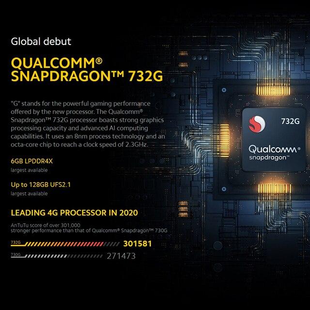 In Stock Global Version POCO X3 NFC 6GB 64GB / 128GB Snapdragon 732G Xiaomi Smartphone 120Hz 64MP AI Quad Camera 5160mAh Battery 2