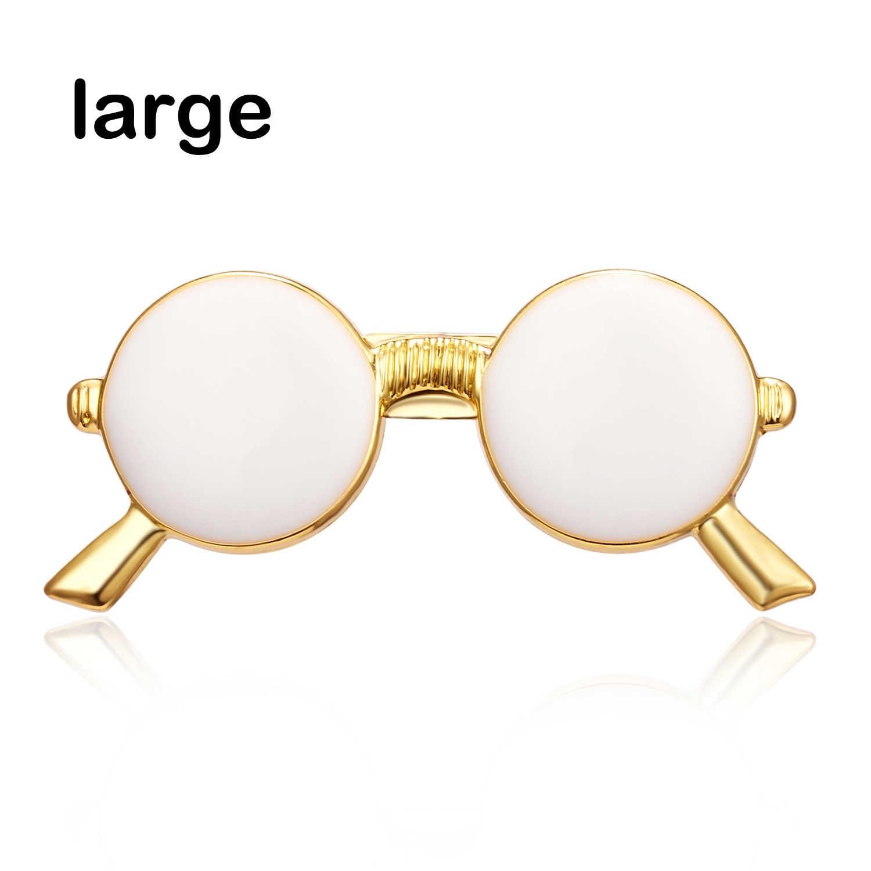 Rinhoo Hot Sale Enamel Kacamata Hitam Kerah Pin Pria Multi Warna Gelas Kecil Bros Logam Bros Pria Bros untuk Wanita perhiasan
