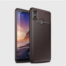 Lantro JS Phone Case for XIAOMI Max3 Pocophone F1 Fitted  Dirt-resistant Anti-knock Carbon Fiber Geometric