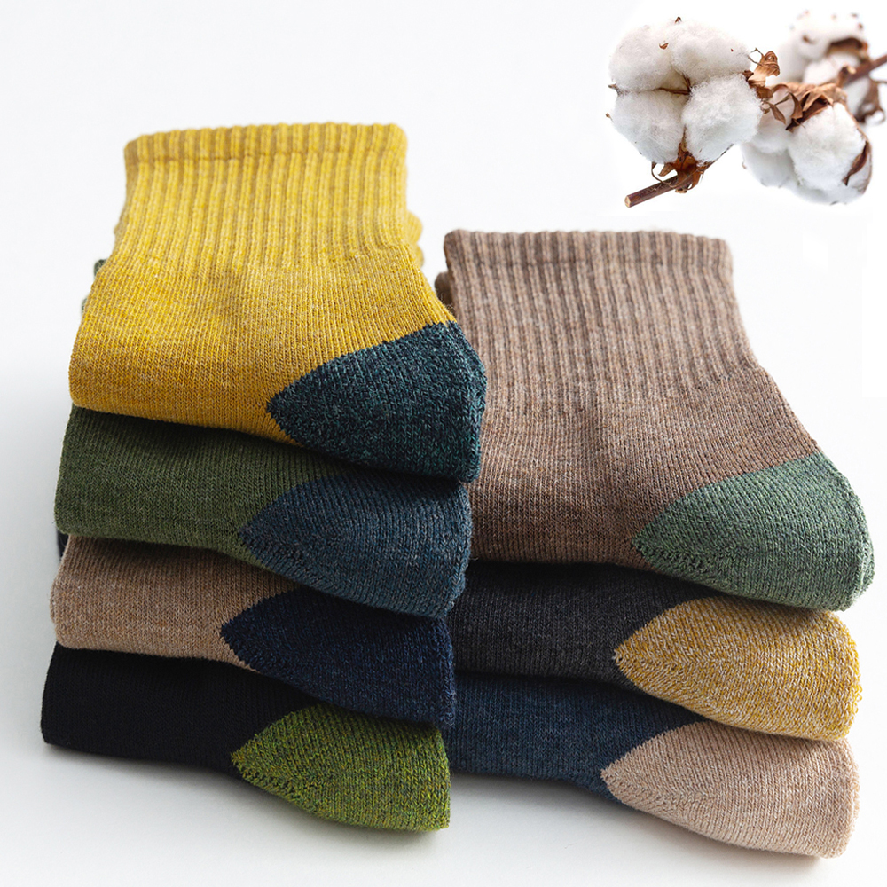 Men's Socks Terry Japanese Winter Warm Breathable Thicke High-Quality Casual Autumn Male