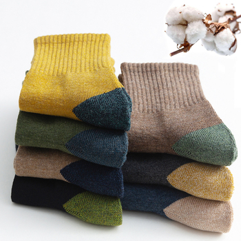 2020 New Japanese Harajuku Socks Autumn Winter Warm Men's Thicke Terry Breathable High Quality Casual Business Male - discount item  53% OFF Men's Socks