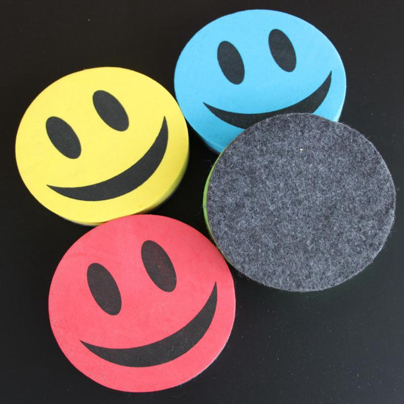 Adeeing Best Magnetic Smiling Face Whiteboard Dry Eraser And The Color Is Random