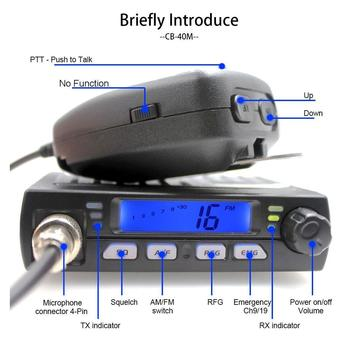Ultra Compact AM FM Mini Mobie CB Radio 25.615--30.105MHz 4W/8W Amateur Car radio Station CB-40M  Citizen Band Radio AR-925 5