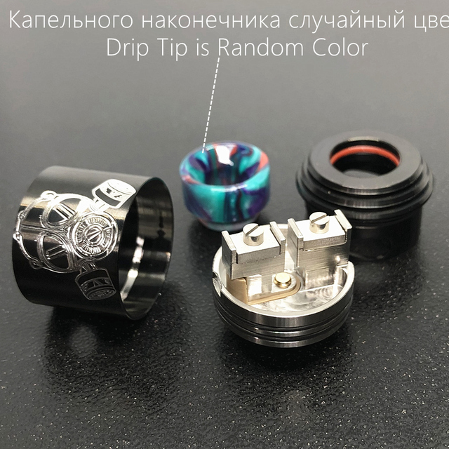Apocalypse GEN 2 RDA Atomizer RDA 24mm Rebuilding Dripping Tank with squonk BF PIN for 510 Electronic Cigarette BOX Mod 4