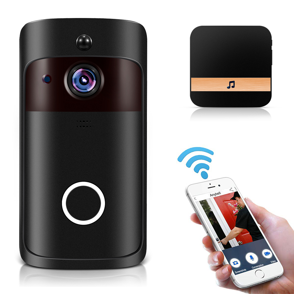 Image 2 - Smart IP Video Intercom WI FI Video Door Phone Door Bell WIFI Doorbell Camera For Apartments IR Alarm Wireless Security Camera-in Doorbell from Security & Protection