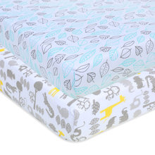 Crib Sheet Set 100% Jersey Cotton | 2-Pack | Fitted Cotton Baby Universal Crib Sheets for Boys & Girls | Mattress Bedding Set(China)