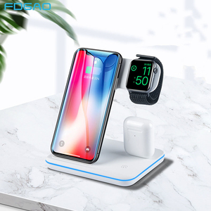 Image 1 - 3 in 1 Qi Wireless Charger For iPhone 11 8 X XS XR Samsung S10 S9 15W Fast Charging Dock Stand for Apple Airpods Pro Watch 5 4 3
