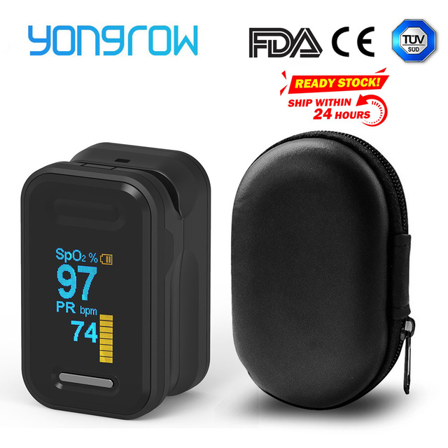 Yongrow Medical Fingertip Pulse Oximeter SPO2 PR Memter Oxygen Saturation SPO2 Oximetro De Dedo Pulsioximetro Oxymeter Finger