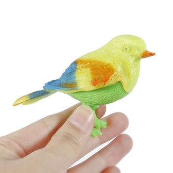 Voice Electronic Control Music Simulation Sing Bird Creative Lawn Figurine Ornament Animal Prop Decoration Children's Toy image