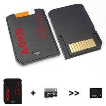 Черный мини-считыватель карт памяти с держателем версии 3,0 адаптер для карт Micro SD/TF SD2Vita конвертер для PS Vita psv 1000 2000