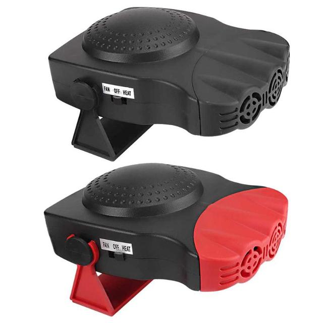 2 In 1 12V 150W Portable Car Heater With Swing-out Handle 1