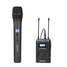 Kit de microfone sem fio handheld sistema 48 canais microfone uhf para canon nikon dslr slr câmera eng efp tiktok vlog vídeo tiro