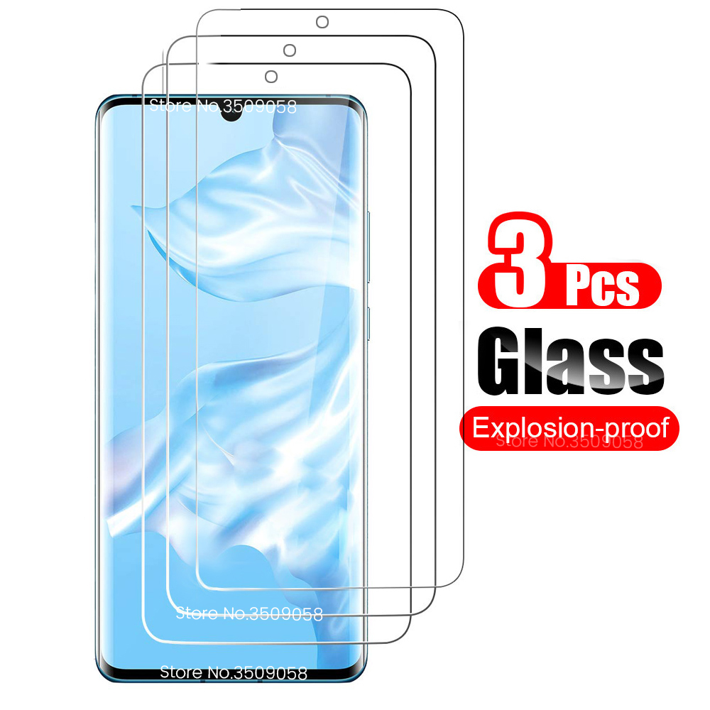 3PCS Protective Glass For Huawei Hauwei P 30 20 P20 P30 Lite 30lite Light P Smart Plus 2019 Psmart Z Psmartz Glas Protector Film