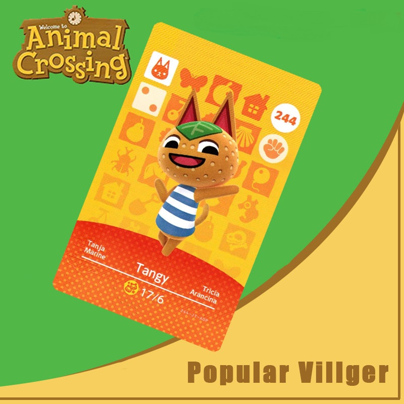 244 Animal Crossing Amiibo Card Tangy Amiibo Card Animal Crossing Series 3 Tangy Nfc Card Work For Ns Games Dropshipping
