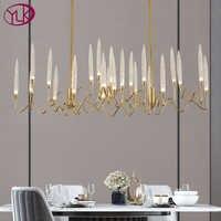 Neue Moderne Gold Rechteck Kristall Kronleuchter Beleuchtung Für Esszimmer Schlafzimmer Lampen LED Leuchten Kronleuchter Innen Lichter