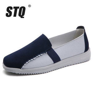 Image 2 - STQ 秋の女性ローファー靴女性で Chaussures ファム女性フラットボートの靴 7761
