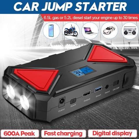 13500mah carro ir para iniciantes 12v 600a qc3 0 banco de potencia portatil carregador de