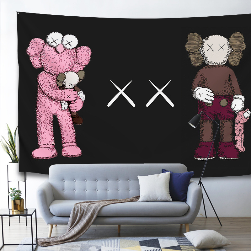 5 Styles Animated Murals Cartoon Tapestries Sesame Street Printed Hanging Decoration Cloth Wall Tapestry Wall Fabric Blanket
