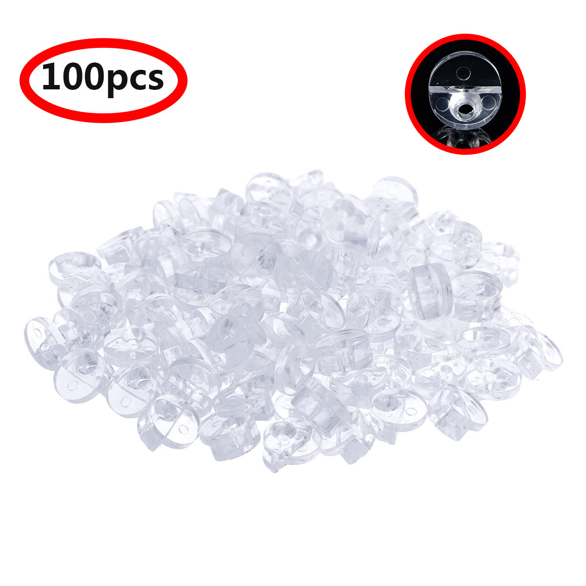 4 mm Glass Clip Glass Cabinet Clips with Screws for Fixing Glass Cabinet Doors AIEVE 100 Pack Glass Retainer Clips Kit