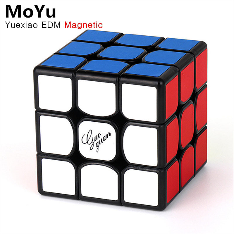 MoYu GuoGuan YueXiao EDM 3x3x3 Magnetic Magic Speed Cube Professional YueXiao E Magnets Puzzle Cubes Educational Toys For Kids