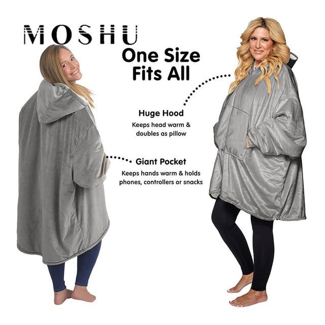 Moshu Fluffy Blanket Hoodie 2