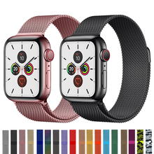 цена на Milanese Loop Bracelet Stainless Steel band For Apple Watch bands series 1/2/3 42mm 38mm Bracelet strap For iwatch 4 5 40mm 44mm
