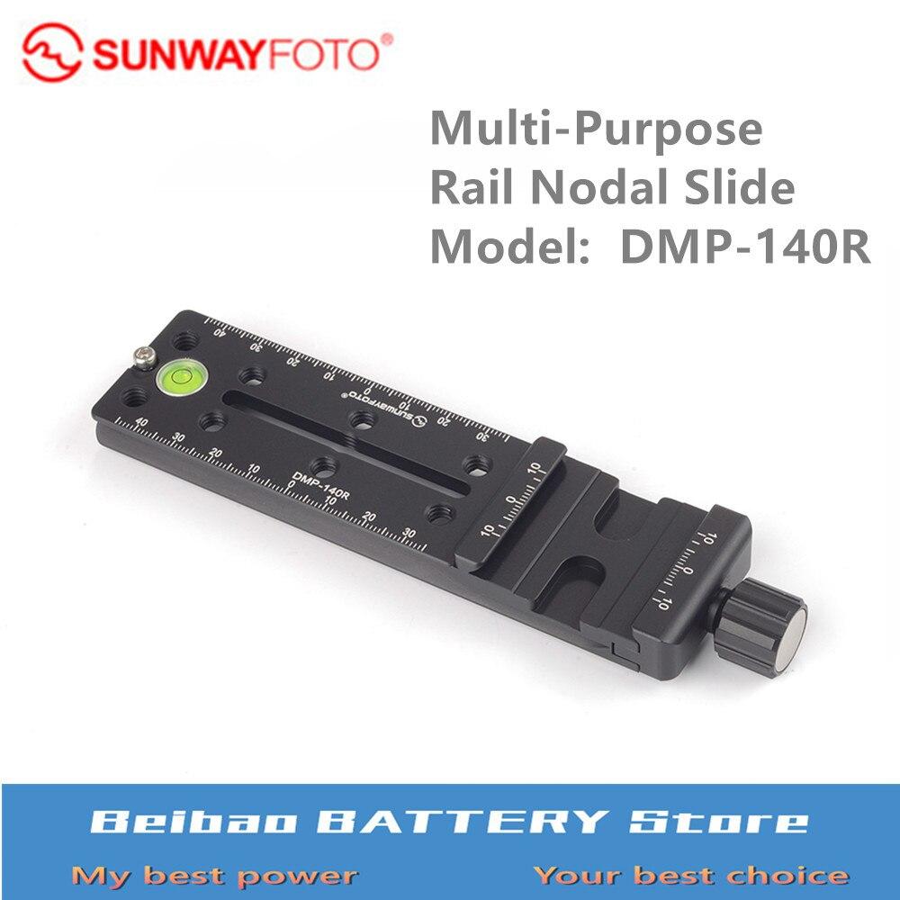 SUNWAYFOTO Multi Purpose Rail Nodal Slide DMP 140R for Gitozo Manfrotto benno tripod-in Tripod Monopods from Consumer Electronics    1