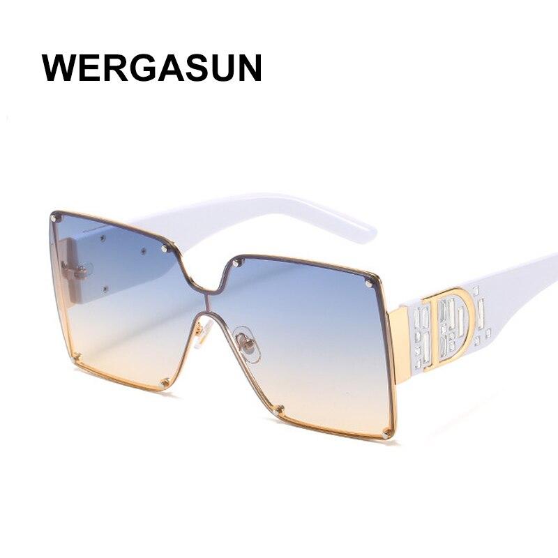 WERGASUN 2020 Brand Design Sunglasses New Fashion Vintage Sunglasses For Men and Women Classic Rimless Sun Glasses UV400