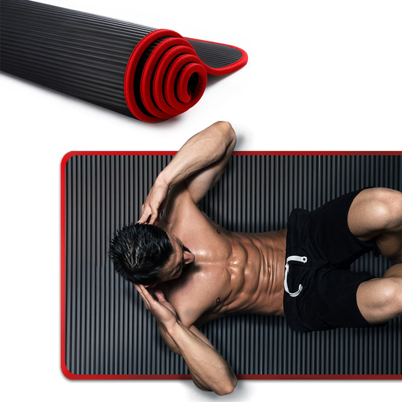 10MM Yoga Mat Thickened 183CMX61cm High Quality For Men Women Fitness Tasteless Pilates Gym Exercise Pads NRB Non-slip Pillow Ma