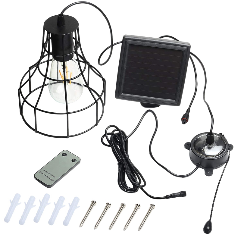 ELEG-Vintage Outdoor Garden Courtyard Decoration Waterproof Remote Solar Lamp